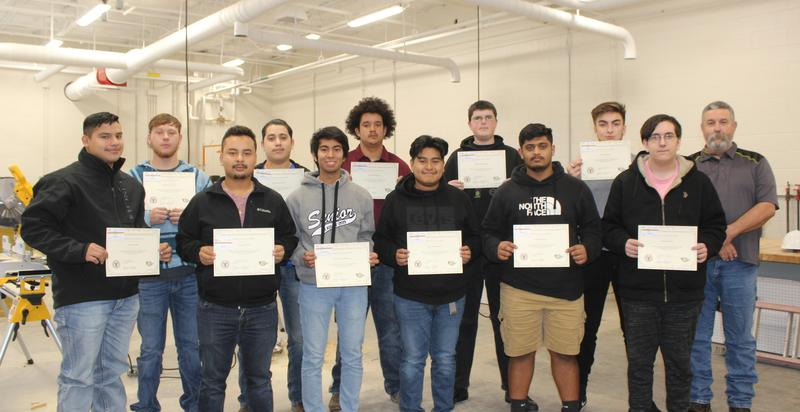 CTE students achieve OSHA certification
