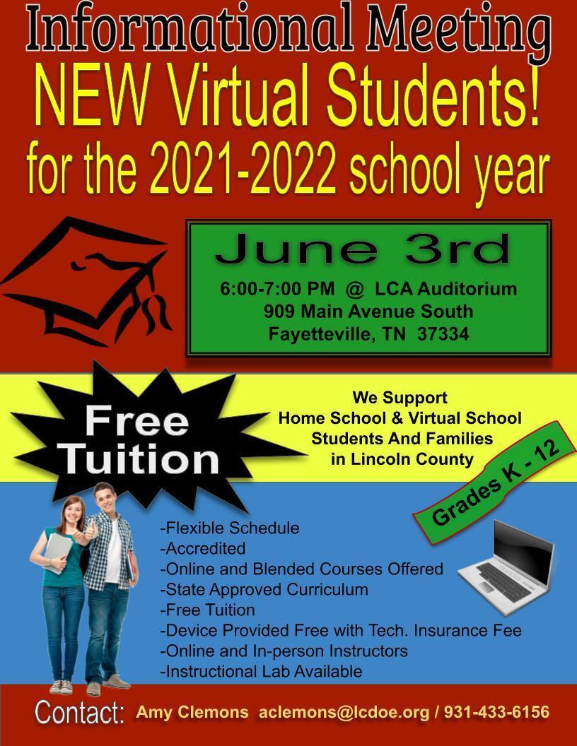 Virtual School Flyer