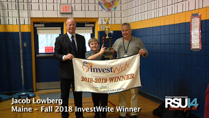 Jacob Lowberg Maine InvestWrite winner