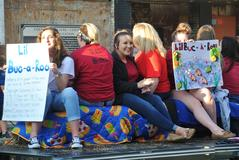BUHS Education Rising in the Homecoming Parade.