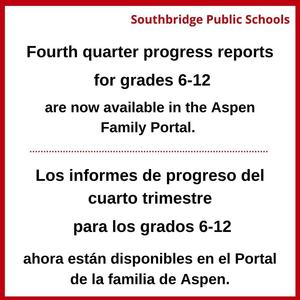 Graphic to announce progress reports are available. All wording in the graphic element is also in the body of the post.