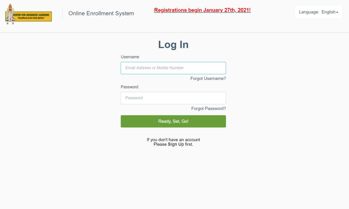 CAL Sibling Enrollment Application