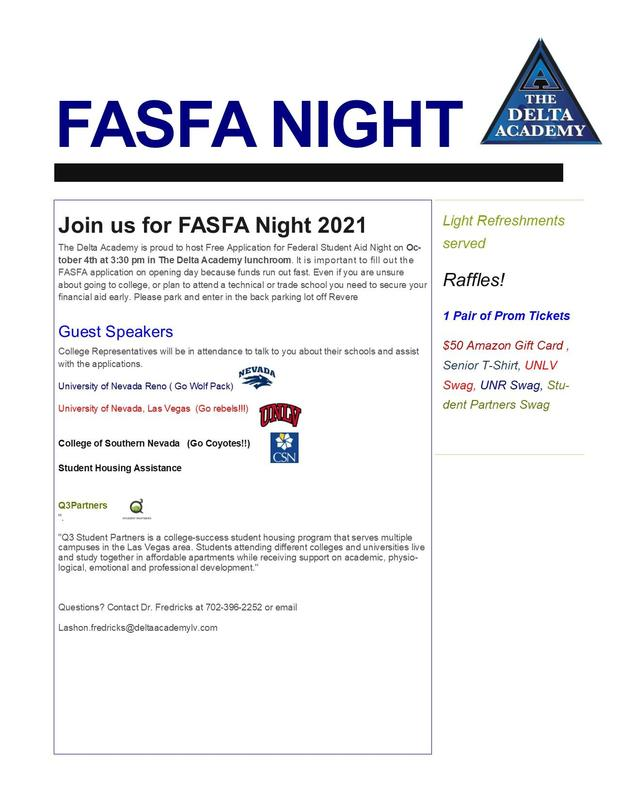 2022 Graduates - Join us for FASFA Night! Featured Photo