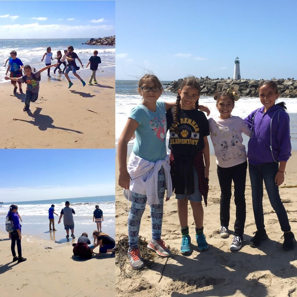 5th graders on the beach in Monterrey
