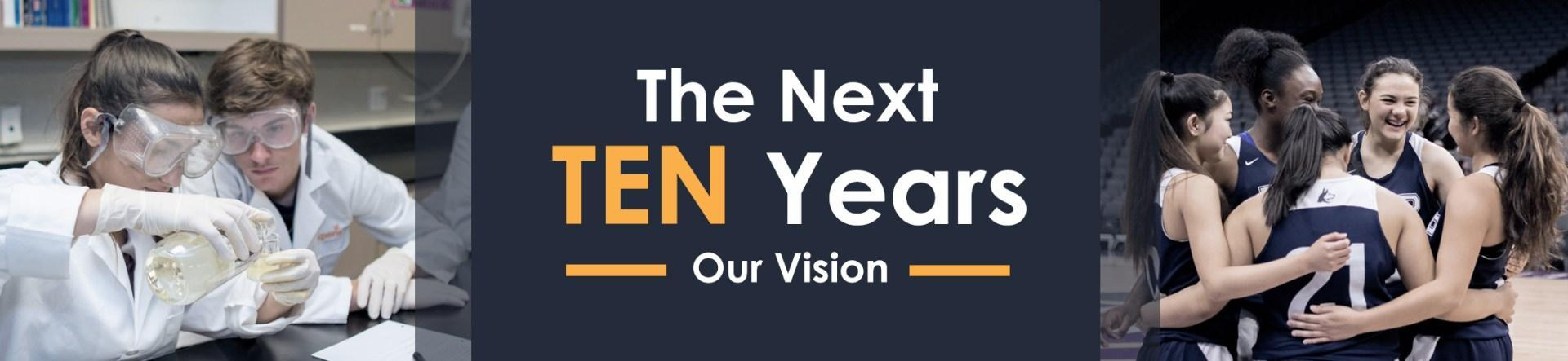 Title Banner: The Next Ten Years - Our Vision