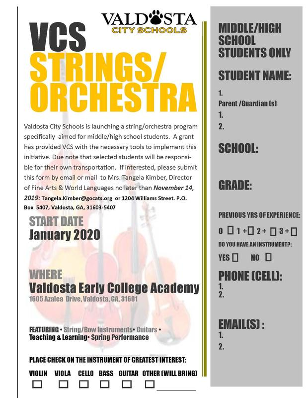 Strings Orchestra Flyer