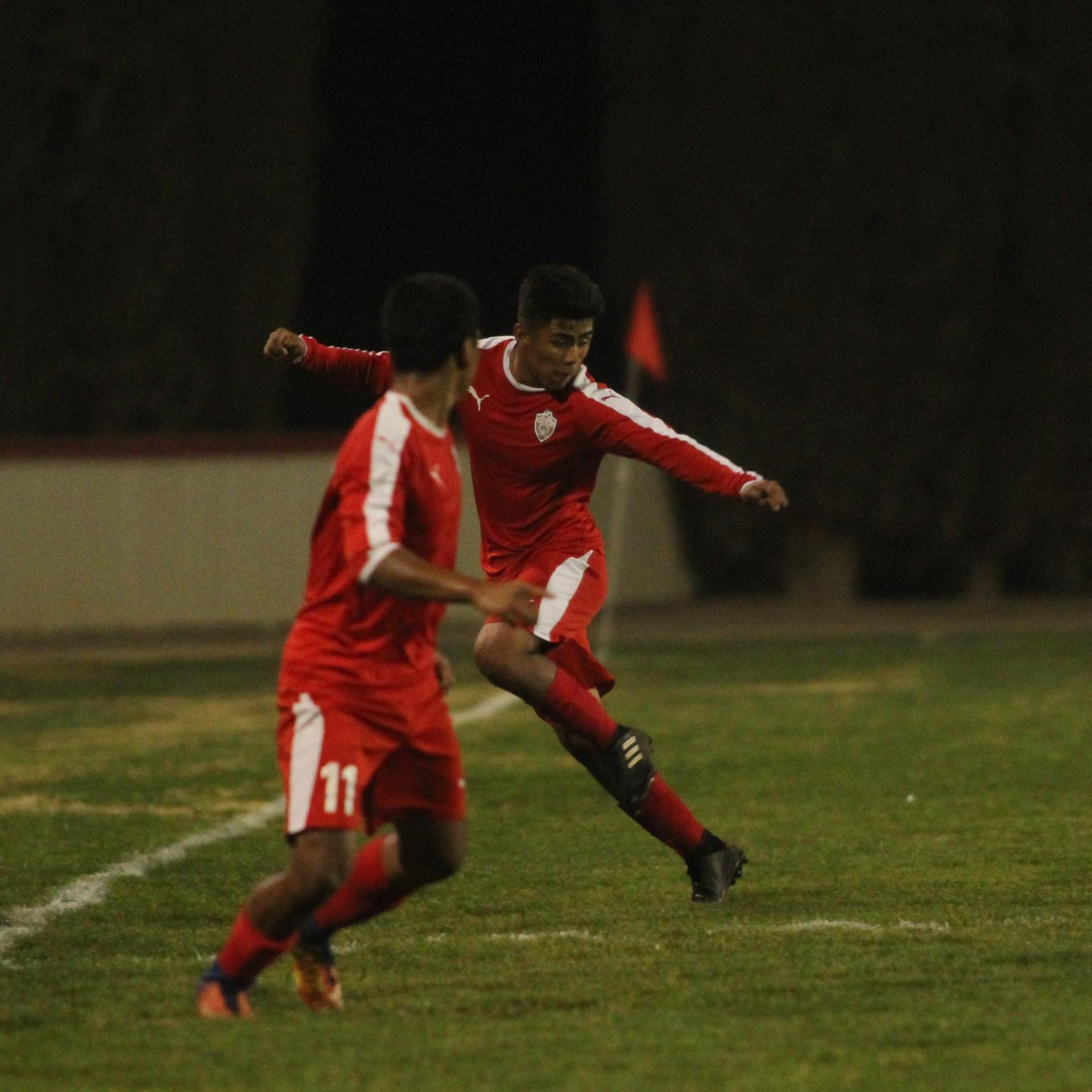 Alejandro Montes After Kicking the Ball