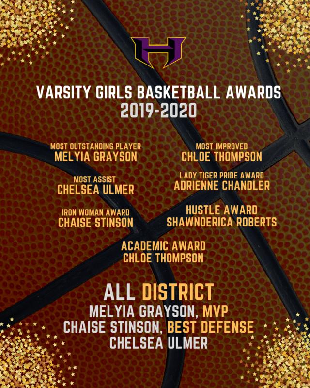 2019-2020 Varsity Girls Basketball Awards Featured Photo