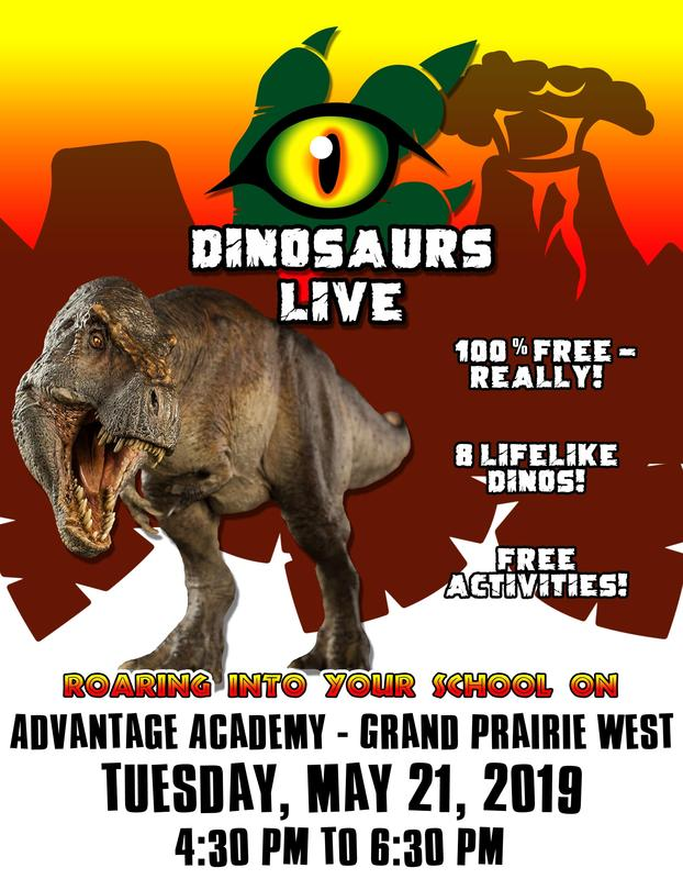 Dinosaurs Live! Flyer