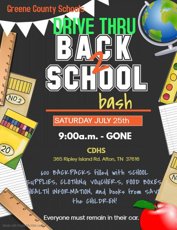2020 GCS Drive-Thru Back 2 School Bash
