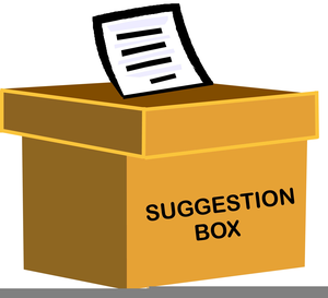 suggestion box clipart