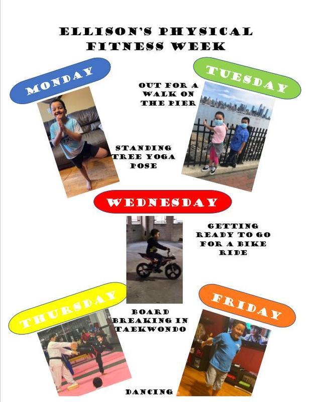 Ellison's fitness week collage