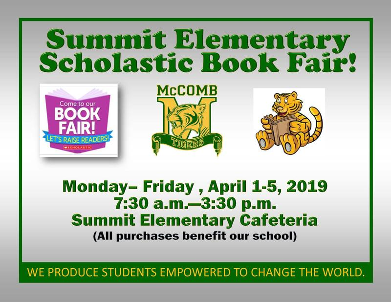 Summit Elementary Scholastic Book Fair News 2019