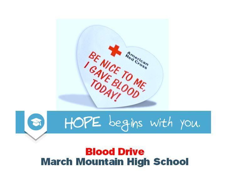 MMHS Blood Drive Banner and Sticker