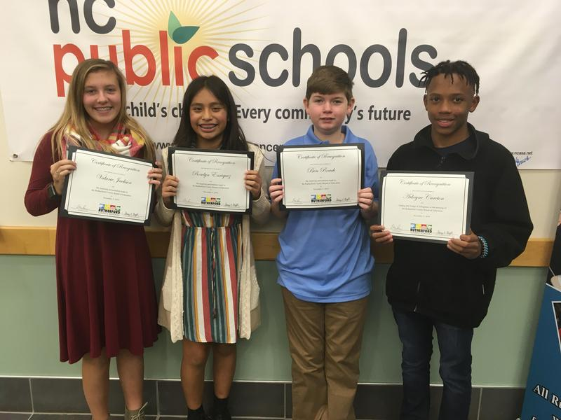 Chase Middle Students Present at November Board of Education Meeting Featured Photo