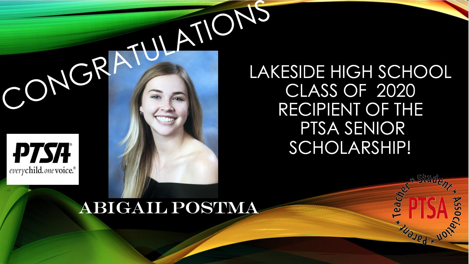 PTSA Scholarship