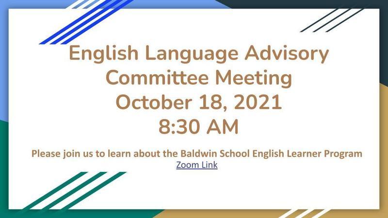 English Language Advisory Committee Meeting Featured Photo