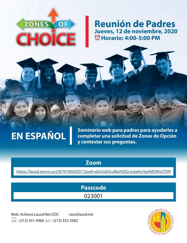Zones of Choice meeting - Spanish
