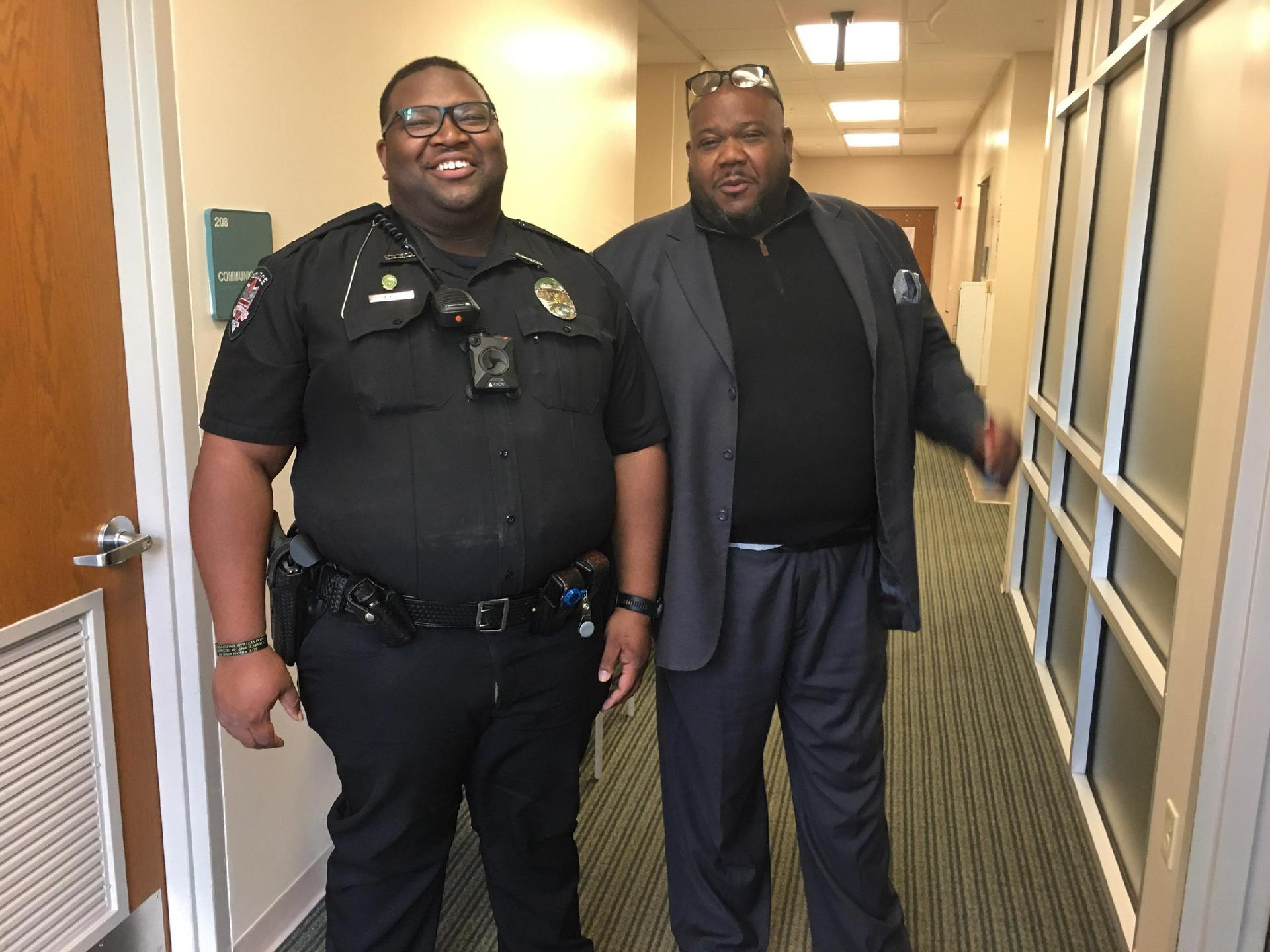 Officer King and Superintendent Johnson