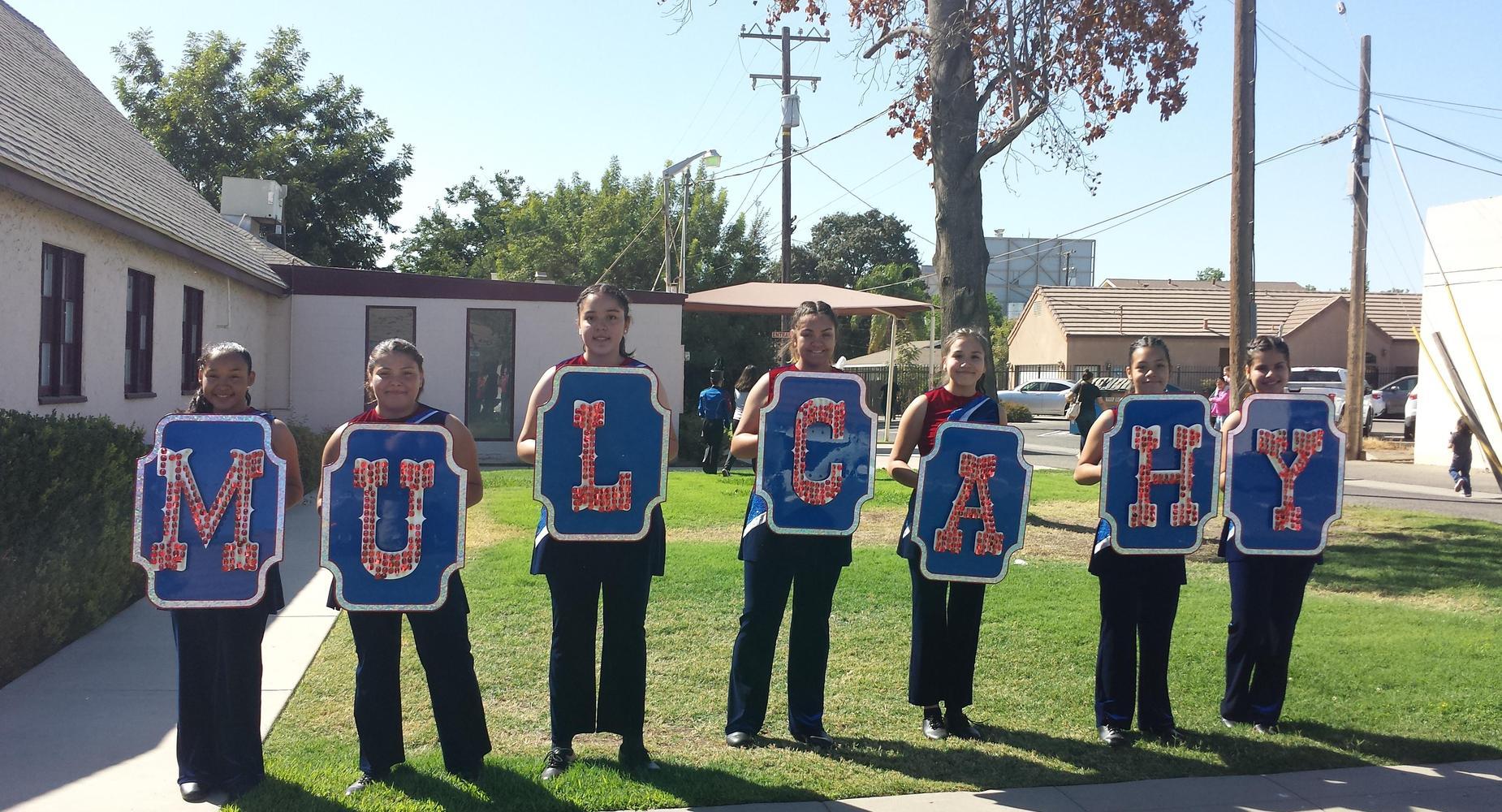 Letter girls at Fair Parade