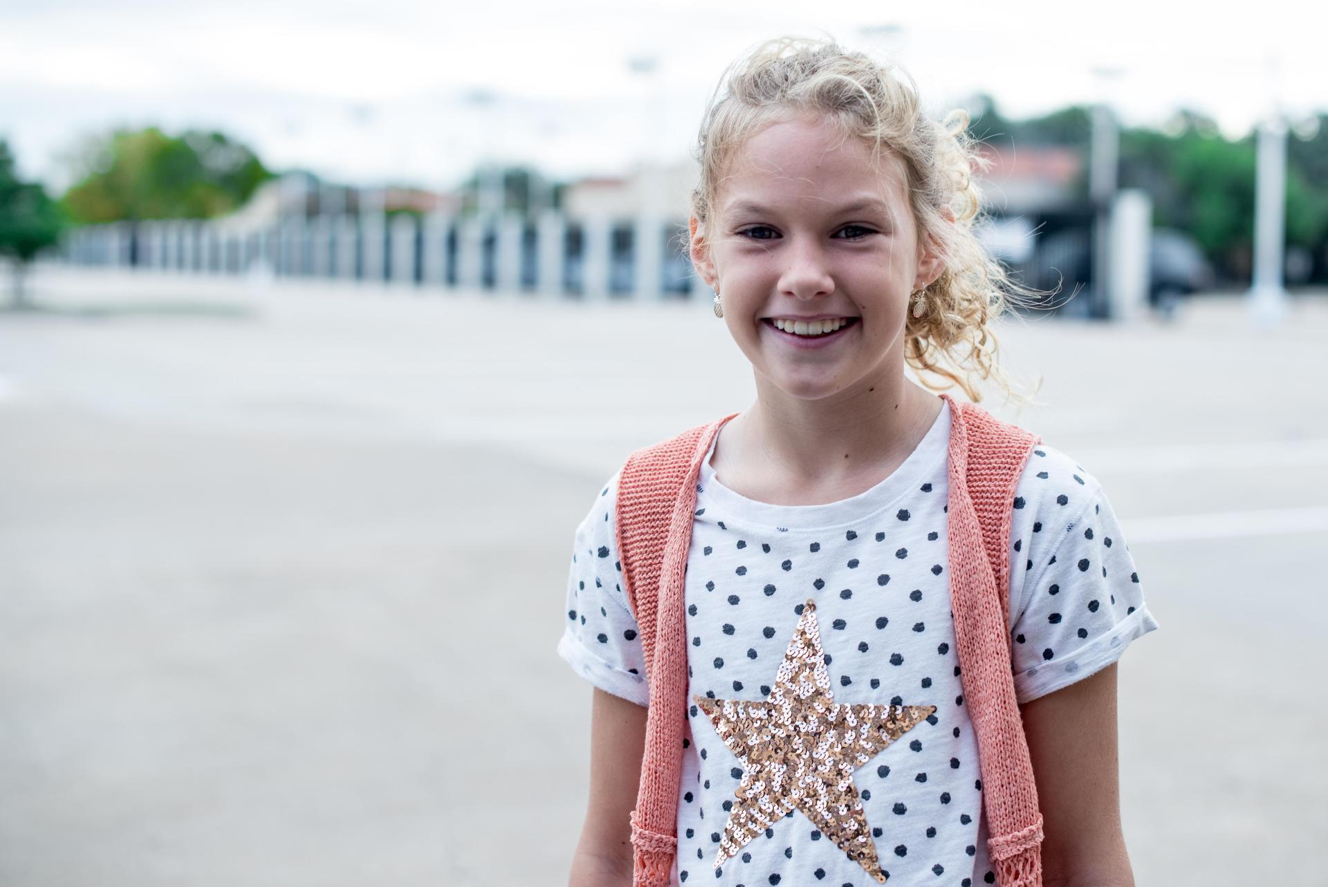 Lower School girl in free dress