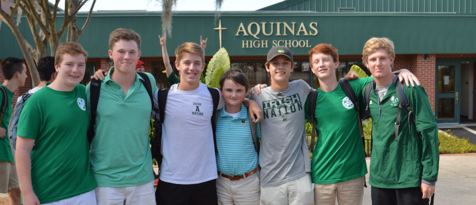 Proud Aquinas students