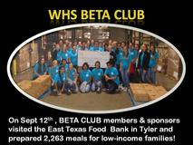 WHS Beta Club group photo