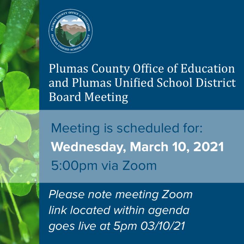 PUSD Board Meeting Agenda 3/10/21