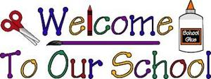 Picture saying welcome to our school