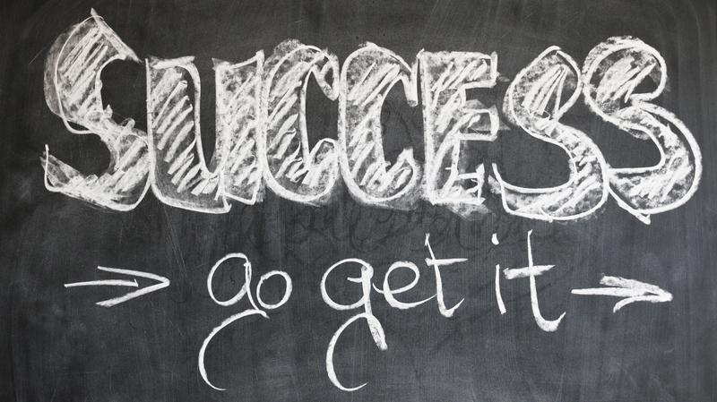Chalkboard message to succeed