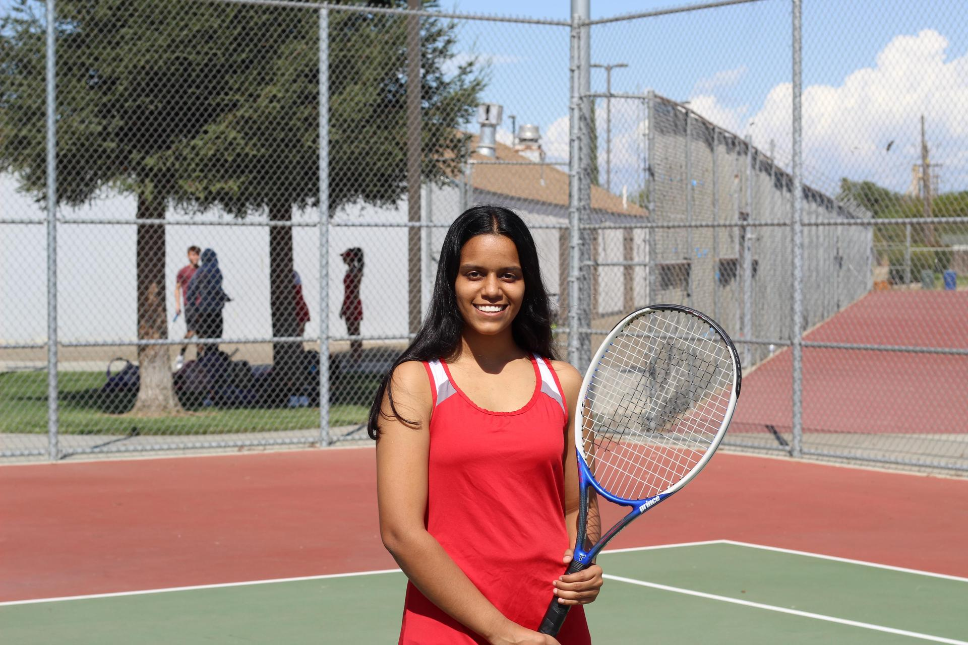 Senior tennis player Natasha Bhardwaj.