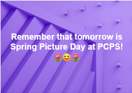 Flowers and smiley for Spring Picture Day