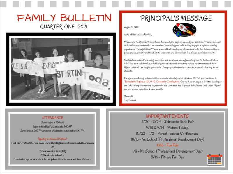 Quarter 1 Family Bulletin Featured Photo