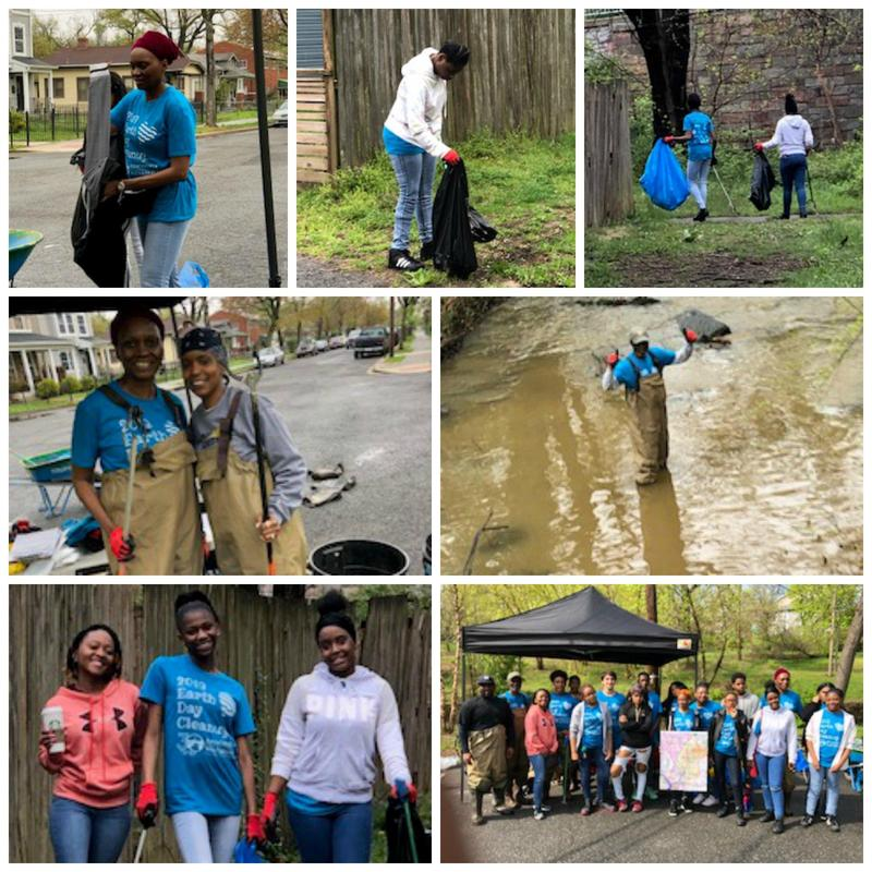 Scholars Clean up Watts Branch Stream Park for Earth Day Thumbnail Image