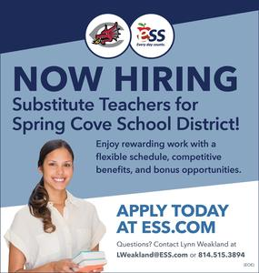 ESS Now Hiring Substitutes for SCSD