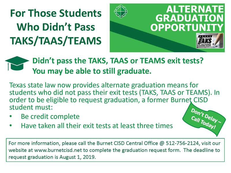 Didn't Pass the TAKS, TAAS or TEAMS Exit Tests?? Thumbnail Image