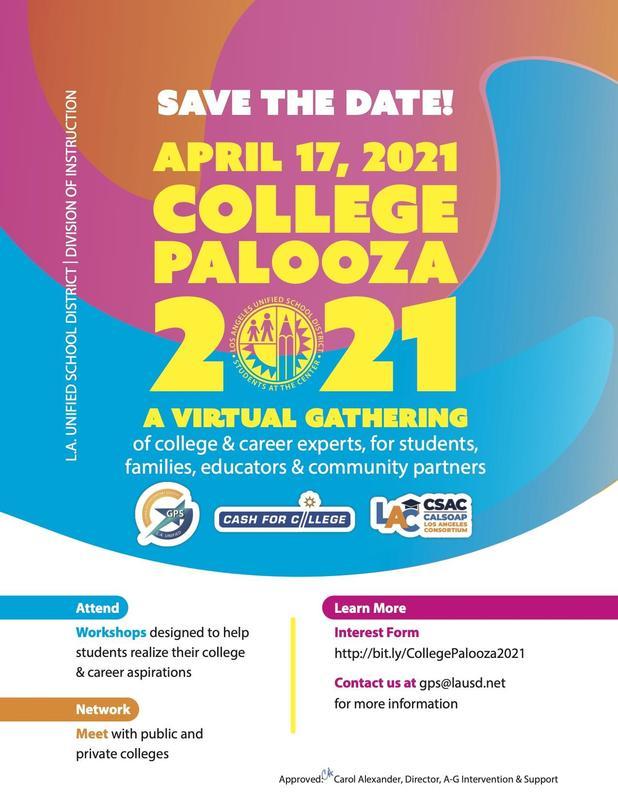 LAUSD 2021 College Palooza Featured Photo
