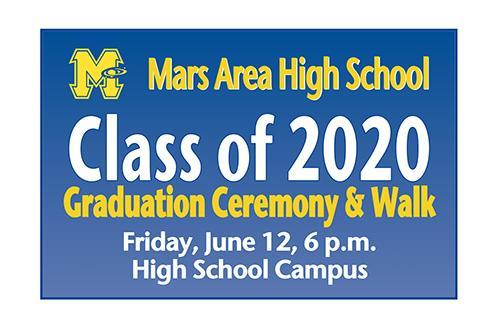 Mars Area High School Class of 2020 Graduation Ceremony and Walk