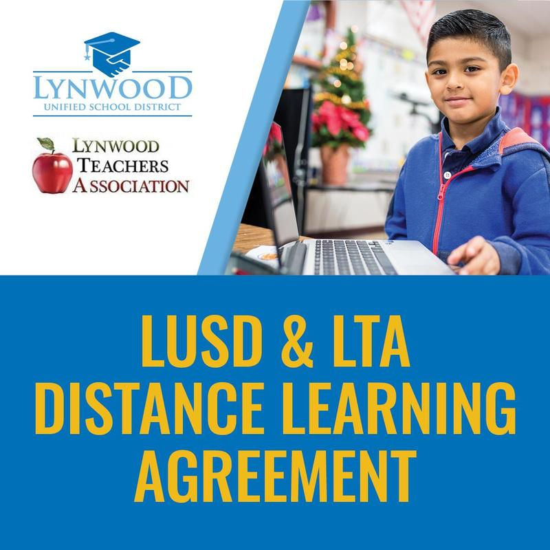 Lynwood Unified and LTA Distance Learning Joint Agreement Featured Photo