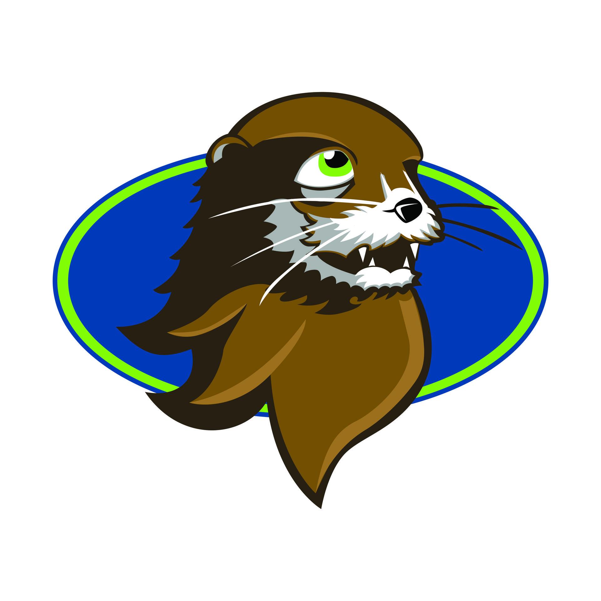 otter head mascot