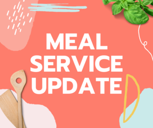 meal service update graphic