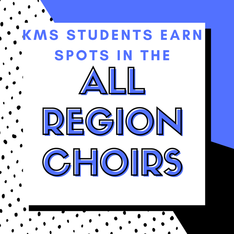 KMS Vocalists Place into All Region Middle School Choirs Featured Photo