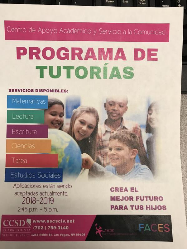 Tutoring Flyer Spanish