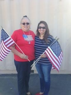 Barbara and Aurora Honoring our Veterans and First Responders