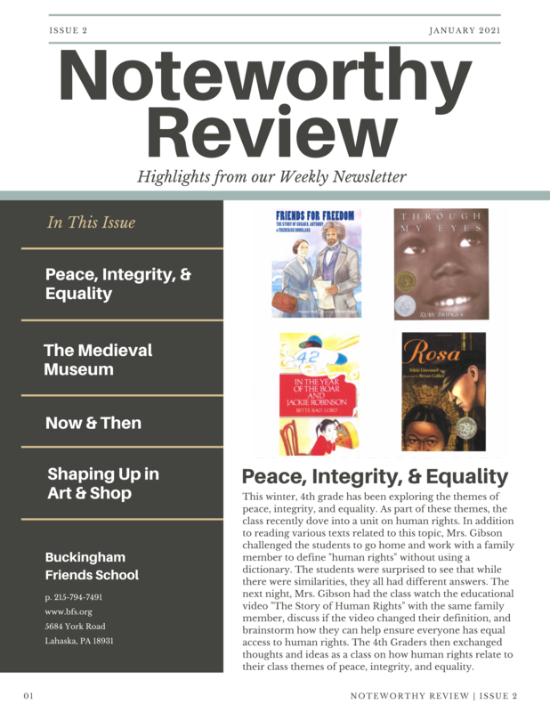 January 2021 Noteworthy Review