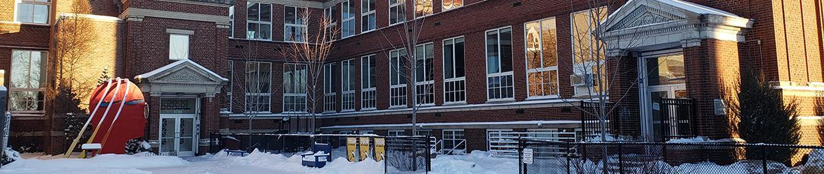 Front of the school winter