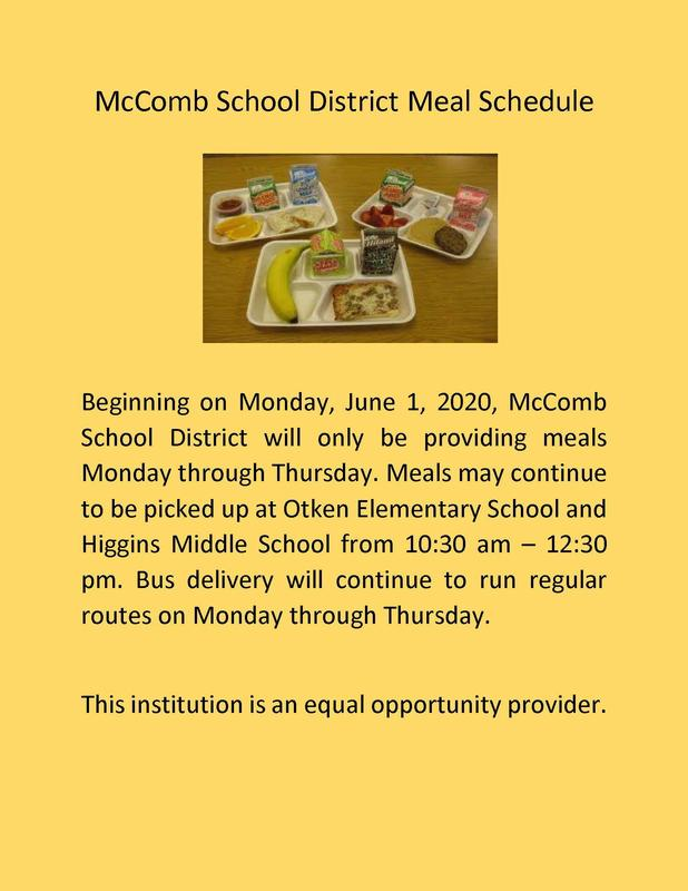 Meals provided Monday - Thursday