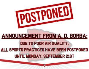 Sports Postponed