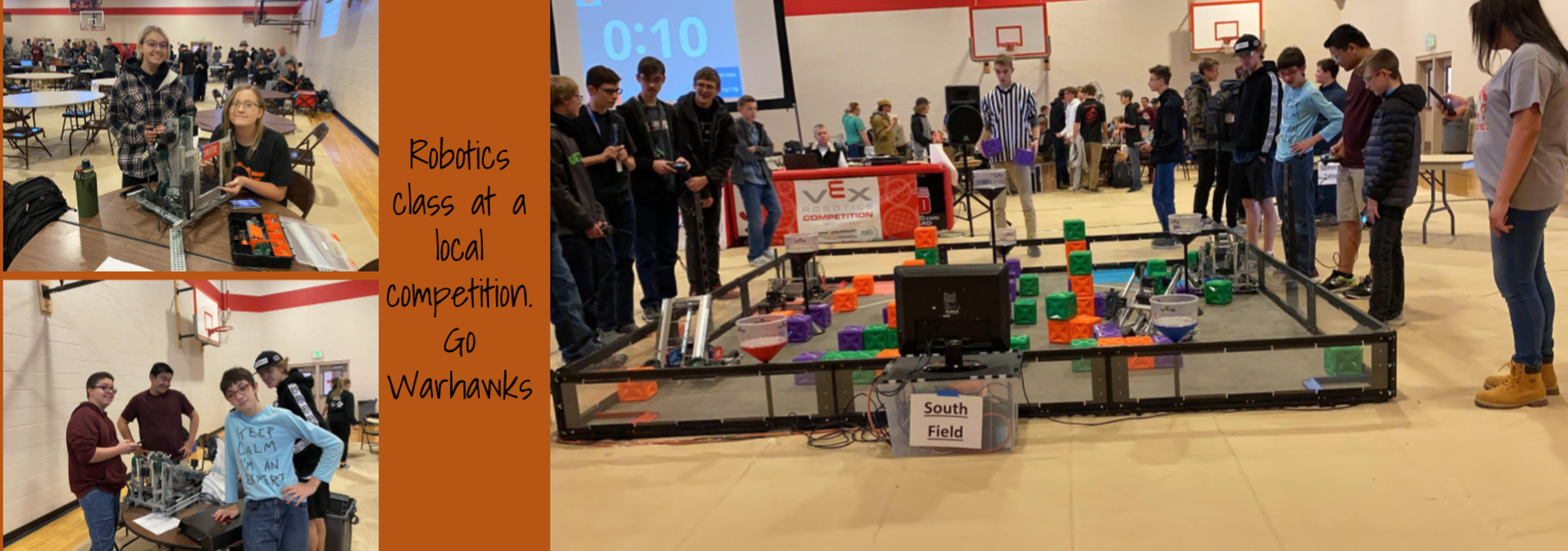 Robotics class at a local competition.