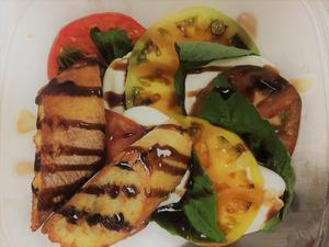 This Caprese Salad is one of the items made from locally-grown items.